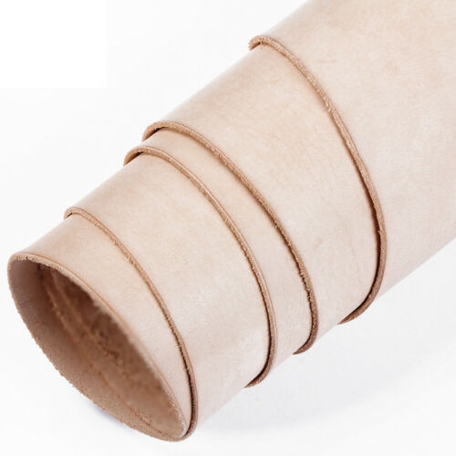 TOOLING /& CRAFT 2mm 12 inch WIDE VEG TAN LEATHER NATURAL HIDE VARIOUS LENGTHS