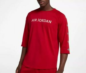 3f9877f79b0326 Air Jordan Nike Jumpman Wings 3 4 Sleeve Gym Red Adult Men s T-shirt ...