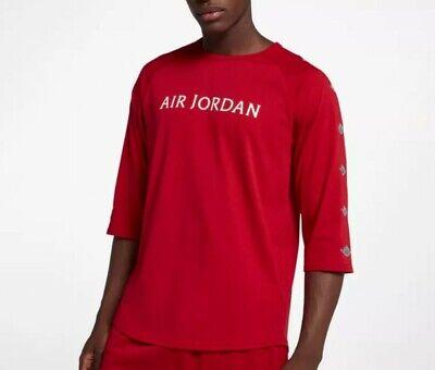 NIKE Men/'s AIR JORDAN 3//4 Sleeve Wings Basketball Tee Shirt NWT Size MEDIUM