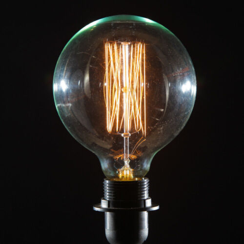 1x 60W Antique Vintage Style Gold Dimmable G80 Large Globe Light Bulb B22 Lamp