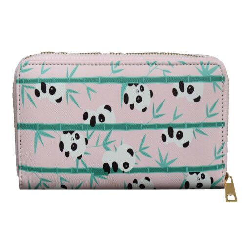 Panda Pattern Zip Around Purse Ladies Gift Idea