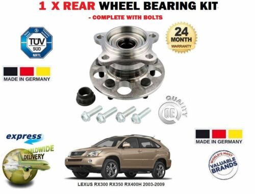 FOR LEXUS RX300 RX350 RX400H 2003-2009 1X REAR WHEEL BEARING HUB ASSEMBLY KIT