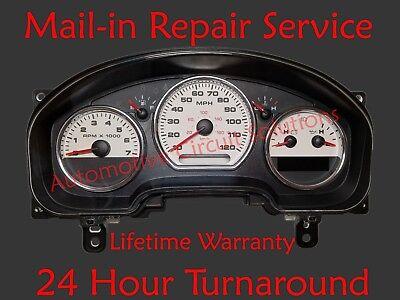 04-08 Ford F150 Instrument Cluster REPAIR SERVICE Speedometer gauges brake light