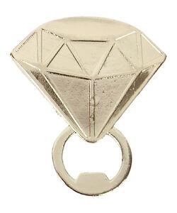 New Diamond Ring Bottle Opener Favor Wedding Bachelorette Bridal Shower Gift DD