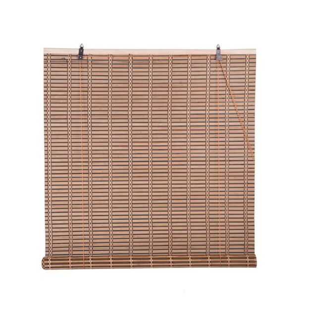 Natural Bamboo Roll Up Window Blind Roman Sun Shade WB-48N1 W36 X H72
