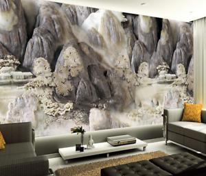3D Stein Kunstwerk 875 Tapete Wandgemälde Tapete Tapeten Bild Familie DE Summer