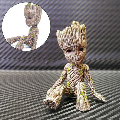 "2 Baby Sitting Groot Action Figure Toy Gift Cute 2/"" Guardians of The Galaxy Vol"