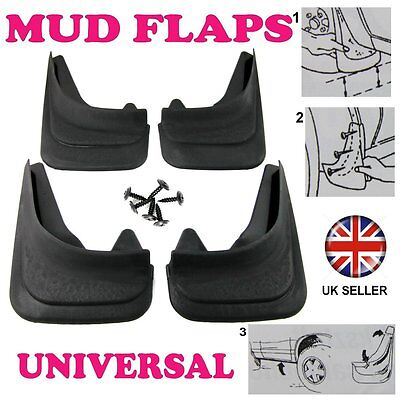 1/2R FOR FORD FIESTA 2002-08 SET MOULDED MUDFLAPS 4x MUD FLAPS FRONT REAR