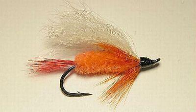 Steelhead Salmon Trout Orange Polar Steelheader Fly  Size  #4 US Alaska Canada
