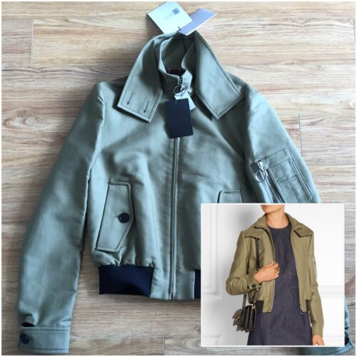 Jacket New Green Size Harrington Beckham Bomber With Tag 6 Brand Victoria Army wfqTXW6