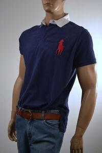 A imagem está carregando Ralph-Lauren-Custom-Fit-Azul-Marinho-Camisa-Polo- 2440e81b57173