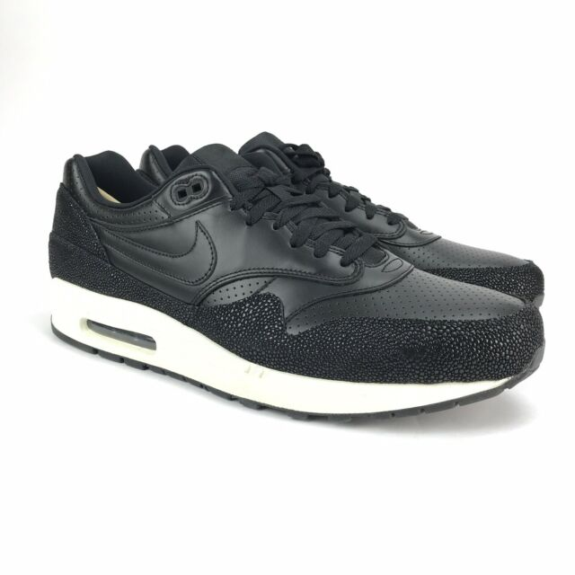 2a374855e9 Nike Air Max 1 Leather PA Sting Ray Pack Black Sea Glass Shoes 705007-001