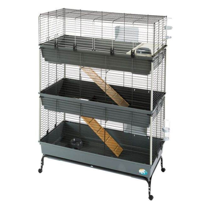 Rabbit Cage Guinea pigs Dwarf 3-Tier Small Pet Mobile Loads of Accessories Gift
