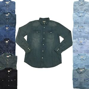 Levi-039-s-Levi-Strauss-Mens-Barstow-Long-Sleeve-Denim-Button-Down-Western-Shirt