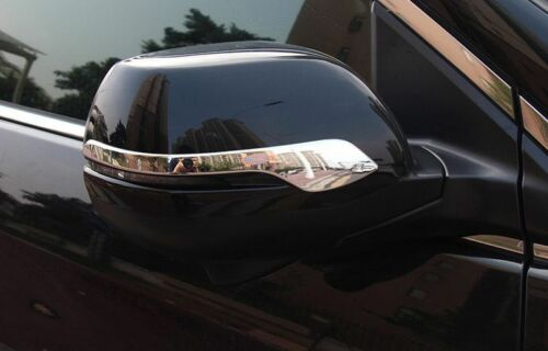 2* ABS Chrome Rearview Strip Side Mirror Cover Trim For Honda CR-V CRV 2012-2016