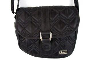 Lug-Handtasche-Schulter-Crossbody-Schwarz-Gesteppte-kleine-Handtasche-Casual-bp5