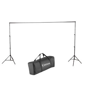 10Ft Adjustable Photography Backdrop Support Stand Background Crossbar Frame Kit