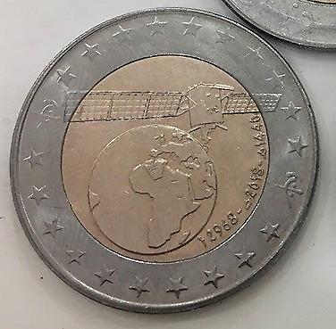New COIN 100 DINARS ALGERIA 2018-2019  Bi-Metallic Algerian satellite Dinar