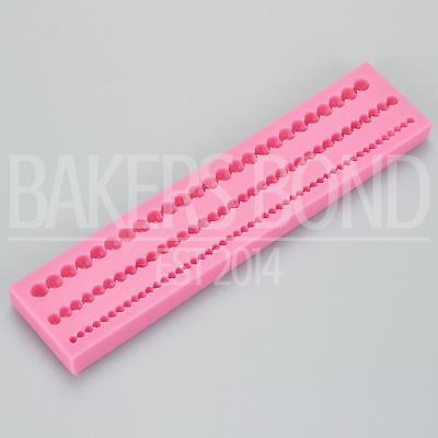 Three Pearl String Silicone Cake Edge Edging Mould Fondant Icing Baking