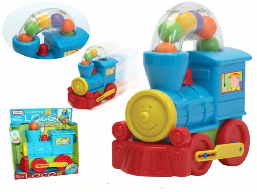 gift FunTime Push Along Ball Blowing Loco Train Toddler /& Baby Toy