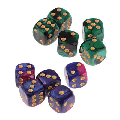 Ludo Board Game Red Six Sided D6 Dice For Playing 16 mm Pack Of 3