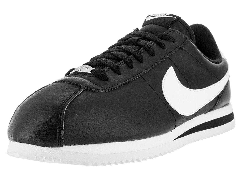 Nike Cortez Basic Leather Black White-Metallic Silver (819719 012)