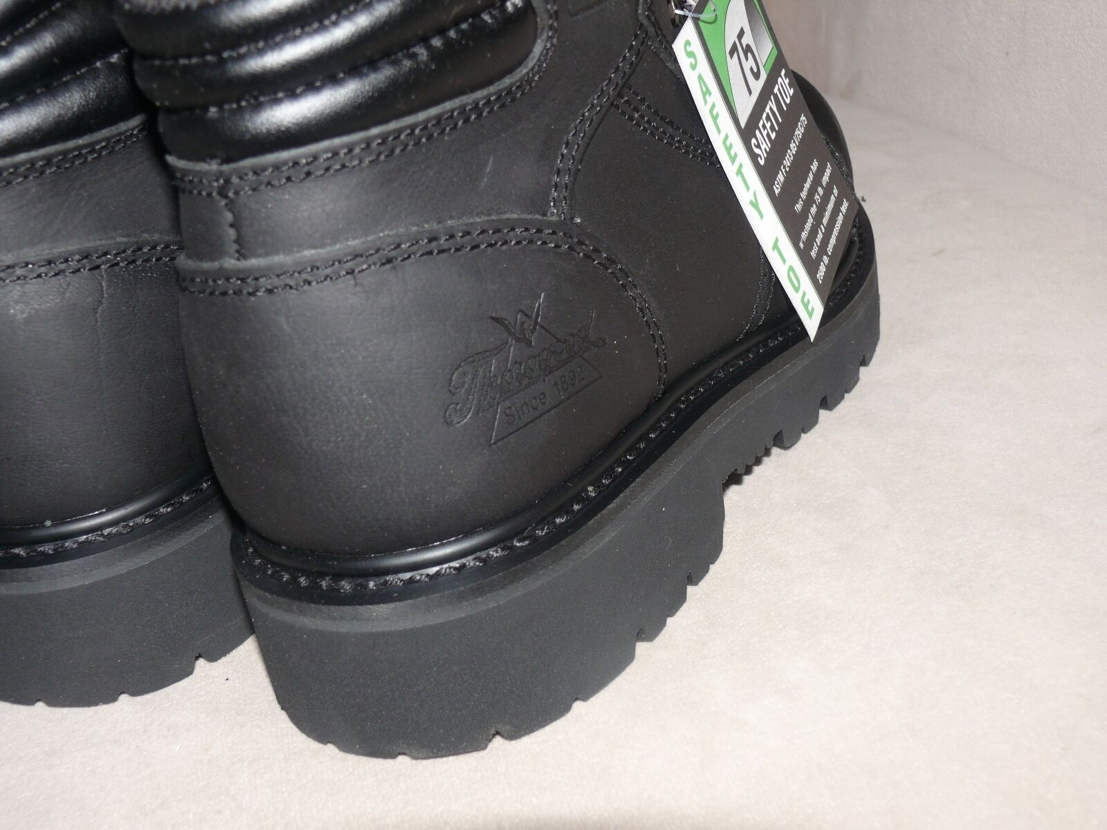 Thorogood Para Hombre punta Semi-oblicuo Encaje punta Hombre a Botas De Seguridad, Negro 6 804-6450 338aed