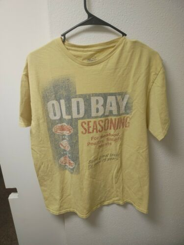 Old Bay Washed Can Art Short Sleeve T-Shirt NEW