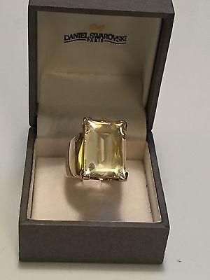 Daniel Swarovski París Francia Talla 7.5 Amarillo Verde Cristal ...