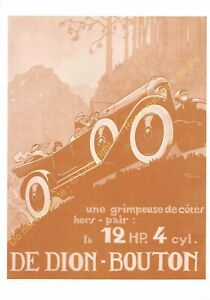 Sepia Postcard Ads Advertising Automobile de Dion Button Edit 3615 PUB10