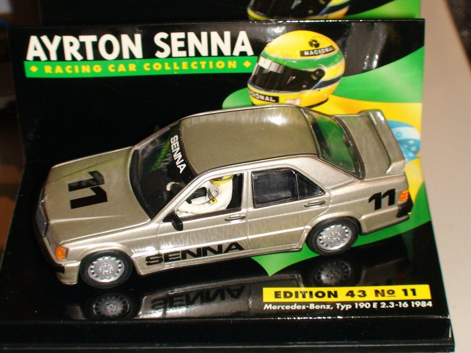 1 43 Minichamps Ayrton Senna MERCEDES 190E 1984-ACS manches  11+