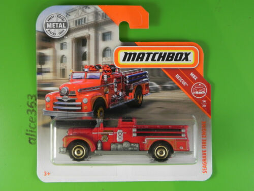 Matchbox 2019 Seagrave Fire Engine 55 neu in OVP MBX Rescue