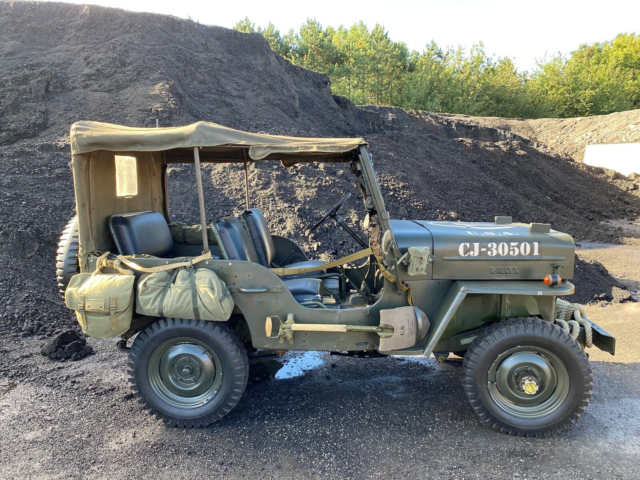 Willys Jeep, 2,2 CJ3B, Benzin, 1956, km 80000, grøn, Jeep…