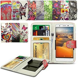 new product ee8b2 d9bb0 Details about For ZTE Kis 3 - Clip Printed Series PU Leather Wallet Case