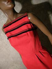 CHIC VINTAGE ELEGANTE ROBE COTON 60s DRESS VTG SIXTIES KLEID 60er ABITO (34/36)