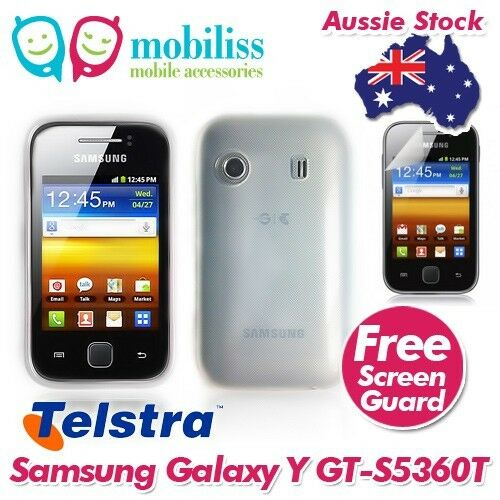 2 X Clear TPU Gel Jelly Case Cover for Telstra Samsung Galaxy Y GT-S5360T