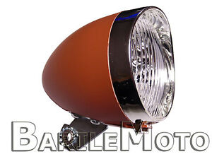 Fanale-Faro-Luce-Anteriore-Marrone-3-LED-Bici-Graziella-Olanda-R-Epoca