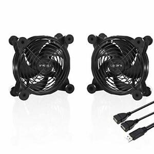 upHere 120mm Fan USB Powered Fans Quiet computer cooling 5v Fan Compatible for