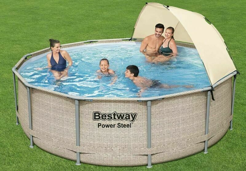 Bestway Swimming Pool Power Steel 13 x 42/3.96m x 1.07m Pool Set Outdoor