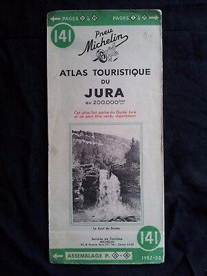 Carte Michelin 141 Atlas Touristique Du Jura 1952 Ebay