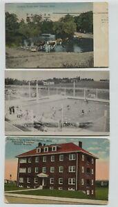 2-1910-era-Dawson-Minnesota-postcards-amp-1-Real-Photo-RPPC
