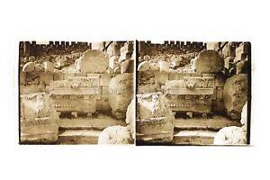 Baalbek? Libano Foto Placca Da Lente Stereo Positivo Vintage 6x13 CM