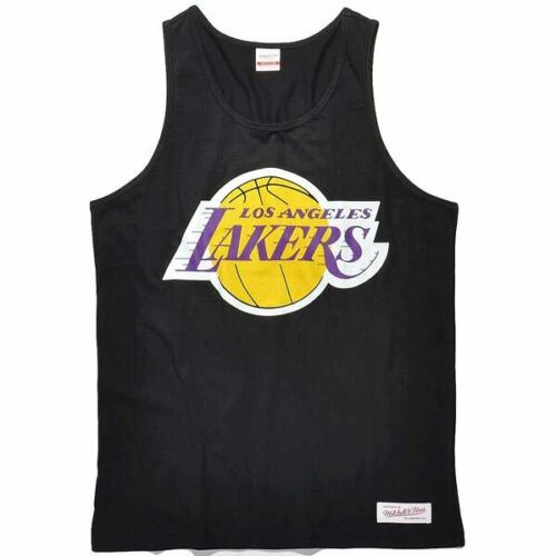 Black New Mitchell /& Ness Los Angeles Lakers NBA Men/'s Team Logo Tank Top