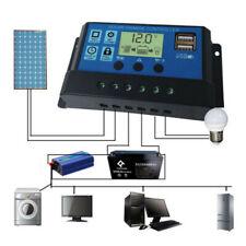USB Solar Panel Battery Charge Controller 12V//24V LCD Regulator Auto UK P2V8
