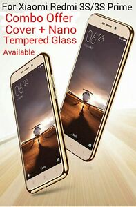 Luxury-GOLD-Plated-Soft-TPU-Back-Cover-Case-For-Xiaomi-Redmi-3S-3S-Prime