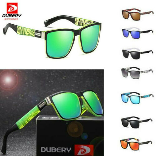 DUBERY Mens Sport Polarized Sunglasses Outdoor Riding Fishing Goggles Glasses