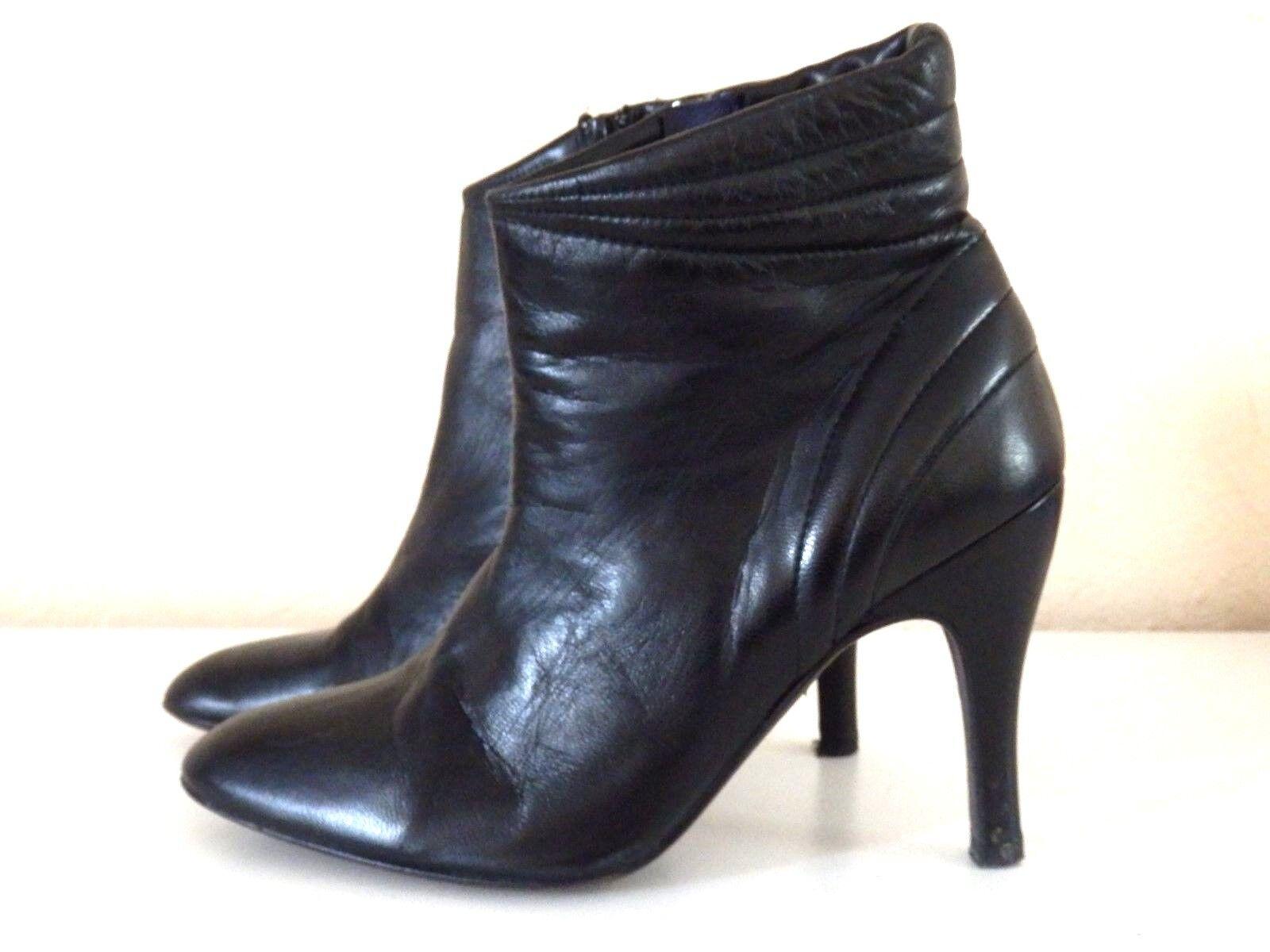 ZADIG & VOLTAIRE - BOTTINES -botas à TALONS - P.35 eu - CUIR SOUPLE negro