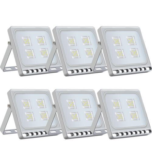 LED Fluter mit Bewegungsmelder//Stecker 10-100W Außen Strahler Scheinwerfer Slim