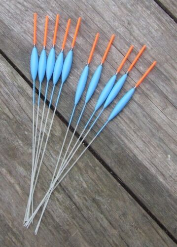 HAND MADE POLE FLOATS 10 FLOATS 50//50 MAD SUMMER PRICES