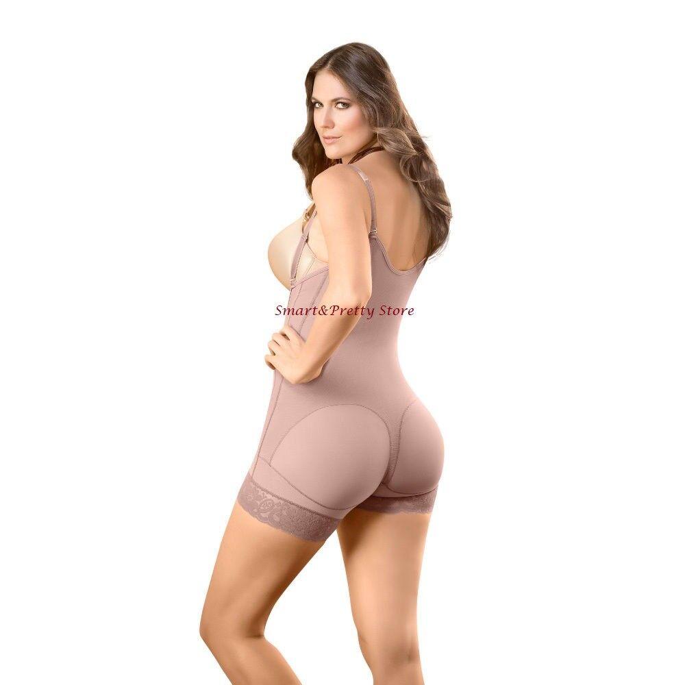 D'Prada 11046 Faja Colombiana Short para bajar de peso y reducir medidas Shaper